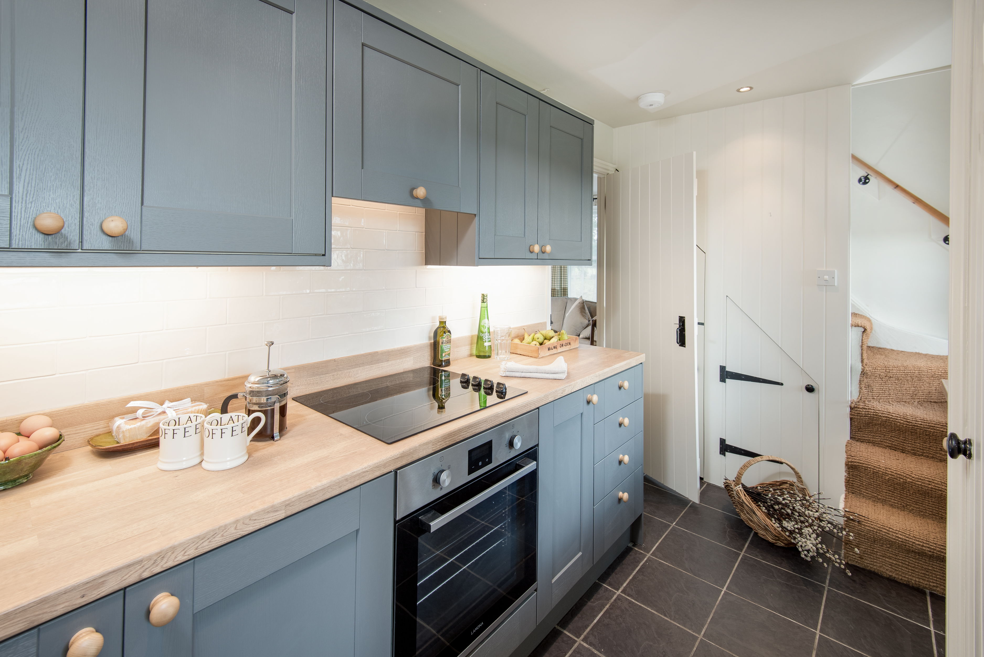 Milne Graden Magic holiday cottage North Lodge well appointed Steel Grey Kitchen lemon drizzle cake coffee