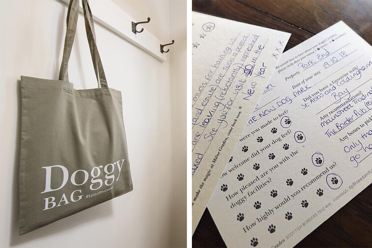 Milne-Graden-magic-guest-Doggy-Bag-hanging-cottage-doggy-Feedback-card