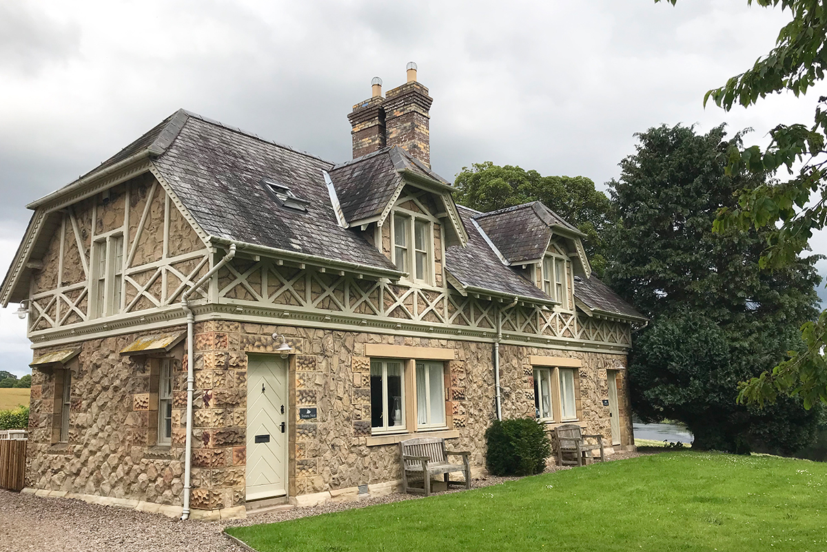 Milne-Graden-Swan's-Nest-Cottage-Exterior-with -view-to-river-tweed