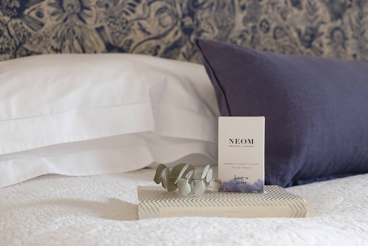 Milne-Graden-Neom-Tranquilty-Sleep-pulse-point-in-School-HOuse-Holiday-Cottage-bedroom-with-Mark-Hearld_fabric