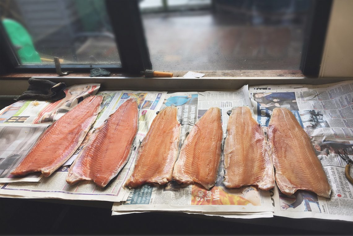line-salmon-sides-across-workbench