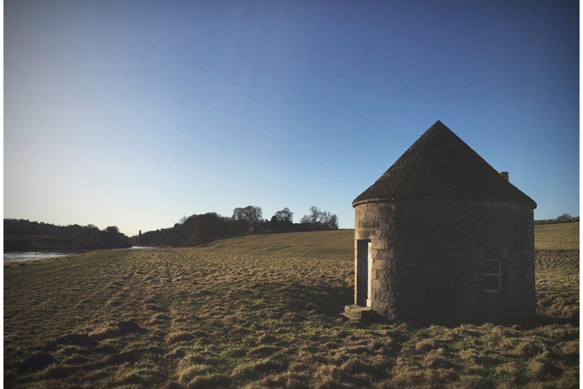 Damford-Shiel-round-fishing-hut-view-looking-back-Hamilton-House