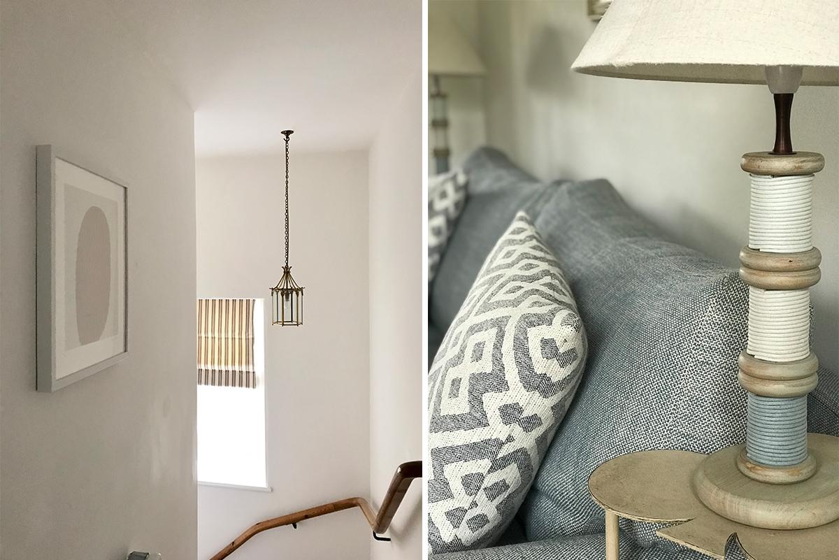 https://talesofthetweed.co.uk/wp-content/uploads/2019/06/Milne-Graden-Tweedside-Holiday-Cottage-Coastal-Interior-Hallway-lounge-area-closeup-coastal-blue-lamp-and-cushions